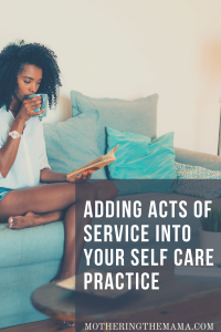how to add acts of service in self care