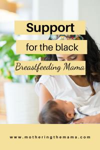 black breastfeeding mom support