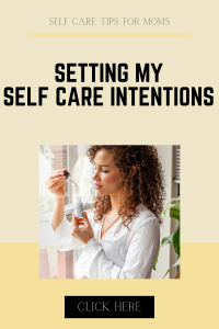 self care intention setting