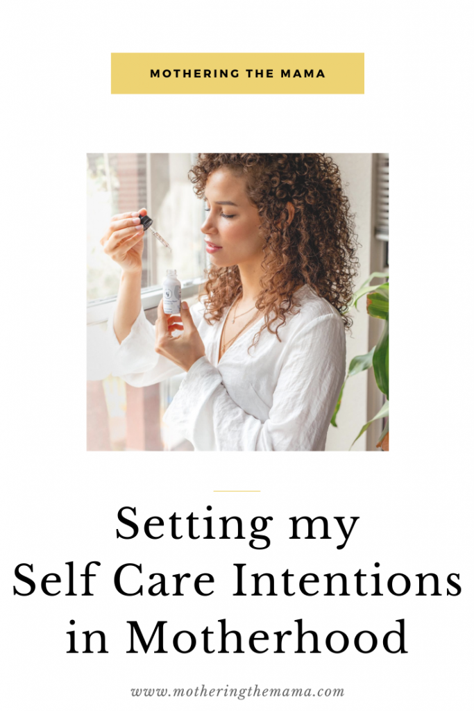 setting self care intentions