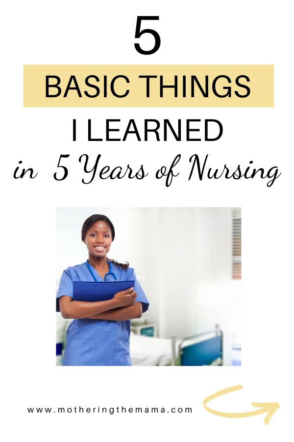 5 years of nursing tips